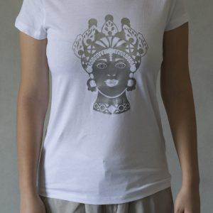 t-shirt- ni ma bi bianca, disegno dorotea argento