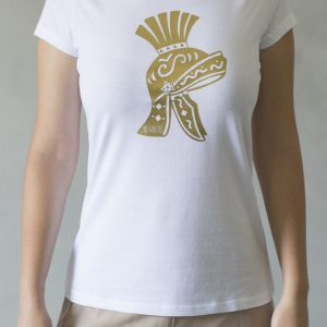 t-shirt ni ma bi bianca, disegno scipio oro